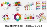 infographic elements data... | Shutterstock .eps vector #588178085