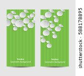 set of vertical banners. paper... | Shutterstock .eps vector #588178895