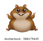 cute vector illustration of fat ... | Shutterstock .eps vector #588179645