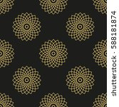seamless pattern with golden... | Shutterstock .eps vector #588181874