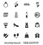 8 march web icons for user... | Shutterstock .eps vector #588183959