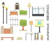 cityscape constructor elements... | Shutterstock .eps vector #588185321