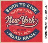 vintage biker graphics and... | Shutterstock .eps vector #588185837