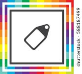 tag vector icon. price sign.... | Shutterstock .eps vector #588187499