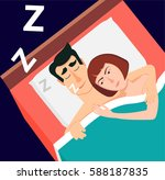 vector illustration in modern... | Shutterstock .eps vector #588187835