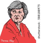 theresa mary may  mp  prime... | Shutterstock .eps vector #588188975