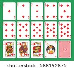 playing cards diamonds suit on... | Shutterstock .eps vector #588192875