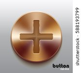 round plus button with brushed... | Shutterstock .eps vector #588193799