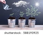 tree growth phases  | Shutterstock . vector #588193925