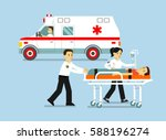 medicine ambulance concept in... | Shutterstock .eps vector #588196274