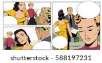 stock illustration. people in... | Shutterstock .eps vector #588197231