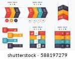 set with infographics. data and ... | Shutterstock .eps vector #588197279