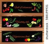 horizontal vegetable banner...   Shutterstock .eps vector #588199931
