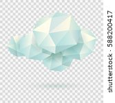 cloud of polygons on... | Shutterstock .eps vector #588200417