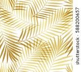 summer tropical palm tree... | Shutterstock .eps vector #588200657