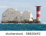 the lighthouse at the end of... | Shutterstock . vector #58820692