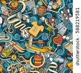 cartoon cute doodles hand drawn ... | Shutterstock .eps vector #588219581