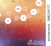 scientific hexagonal chemistry... | Shutterstock .eps vector #588224777