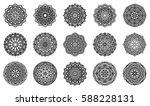set of mandalas for painting.... | Shutterstock .eps vector #588228131