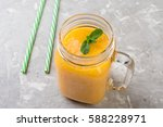 Fresh Tropical Smoothie In A...