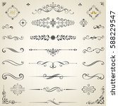 Vector Set Of Ornate...