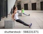 fitness  sport  exercising ...   Shutterstock . vector #588231371