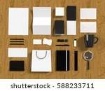 set of corporate design mockup... | Shutterstock . vector #588233711