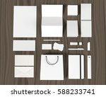 set of corporate design mockup... | Shutterstock . vector #588233741