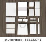set of corporate design mockup... | Shutterstock . vector #588233741