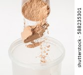 scoop of chocolate whey isolate ... | Shutterstock . vector #588235301
