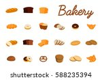 set of vector illustrations... | Shutterstock .eps vector #588235394