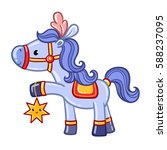 circus horse illustration. card ... | Shutterstock .eps vector #588237095