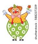 circus clown illustration.... | Shutterstock .eps vector #588237209