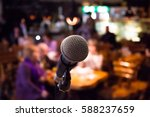 microphone on rack close up.... | Shutterstock . vector #588237659