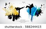 karate. sport background | Shutterstock .eps vector #588244415