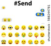 sms correspondence on... | Shutterstock .eps vector #588244781