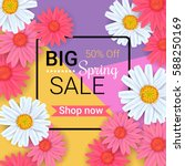 big spring sale background with ... | Shutterstock .eps vector #588250169