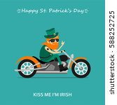 st. patrick's day greeting card ... | Shutterstock .eps vector #588252725
