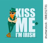 st. patrick's day greeting card ... | Shutterstock .eps vector #588252731