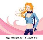 modern city girl over... | Shutterstock .eps vector #5882554