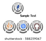 the illustration   set of logos ... | Shutterstock . vector #588259067
