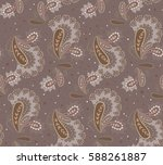 pattern paisley. ancient... | Shutterstock .eps vector #588261887