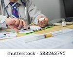 syringes  medical doctor... | Shutterstock . vector #588263795