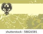 heraldic eagle background in... | Shutterstock .eps vector #58826581