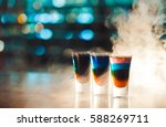 multicolored shots on the bar   Shutterstock . vector #588269711