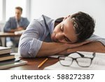 students during the class. guy... | Shutterstock . vector #588272387
