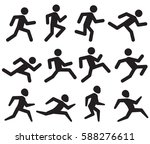 man running figure black... | Shutterstock .eps vector #588276611