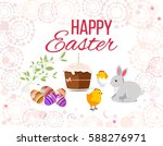 happy easter greeting card. on...   Shutterstock .eps vector #588276971