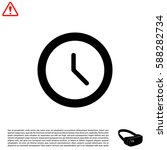 clock icon   vector... | Shutterstock .eps vector #588282734