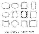 vintage doodle picture frames ... | Shutterstock .eps vector #588282875